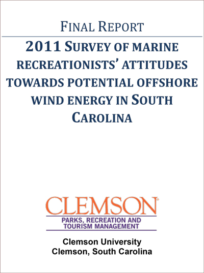 Survey of Marine Recreationists' Attitudes Towards Potential Offshore Wind Energy in South Carolina