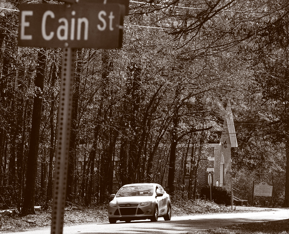 The street sign for Cain Street.