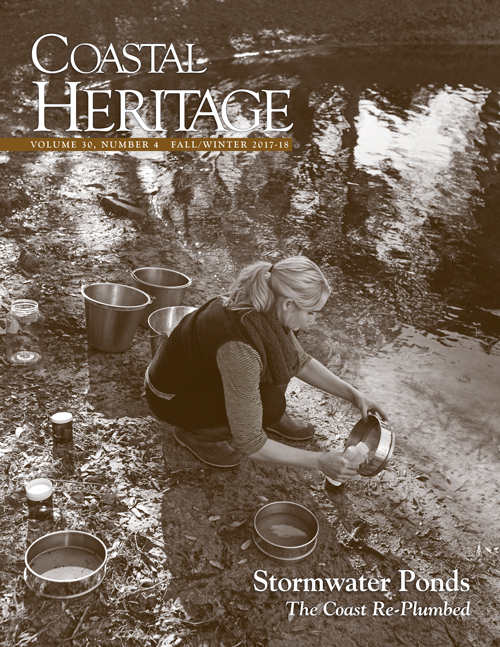 A cover of Coastal Heritage magazine.