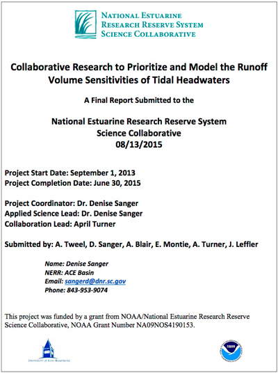 Collaborative Research to Prioritize and Model the Runoff Volume Sensitivities of Tidal Headwaters