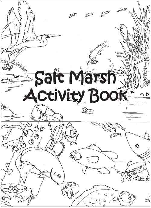 Cover of the Salt Marsh Activity Book.