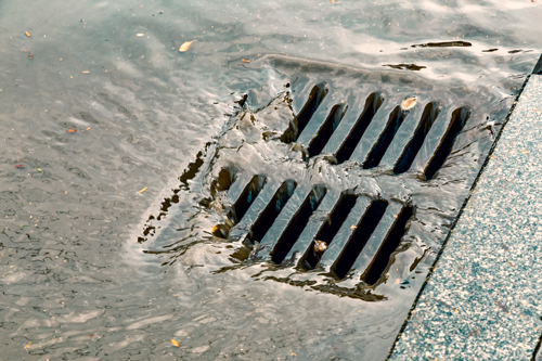 Stormwater street drain.