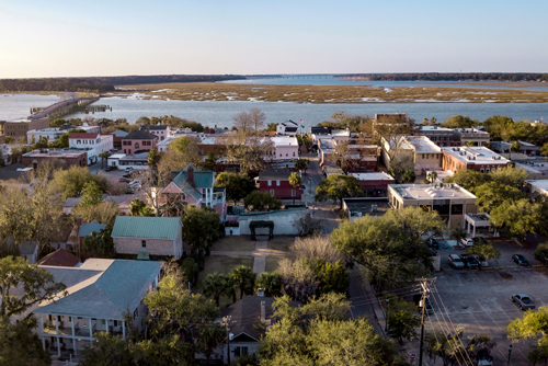 Beaufort SC, showing the community and waterfront.