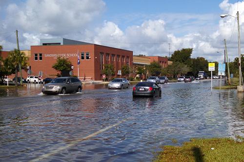 Downtown Charleston Flooding.
