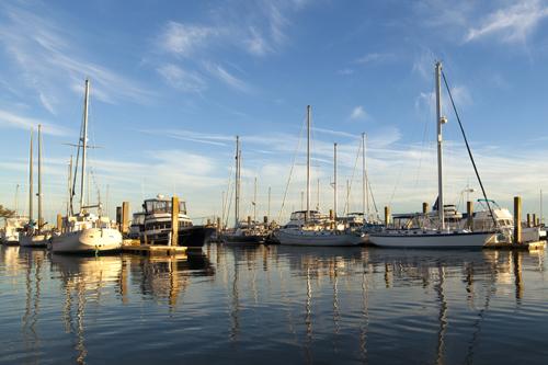 Marina with boats.